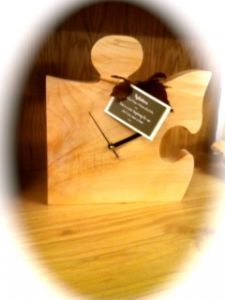 Handcrafted Sycamore Jigsaw Clock